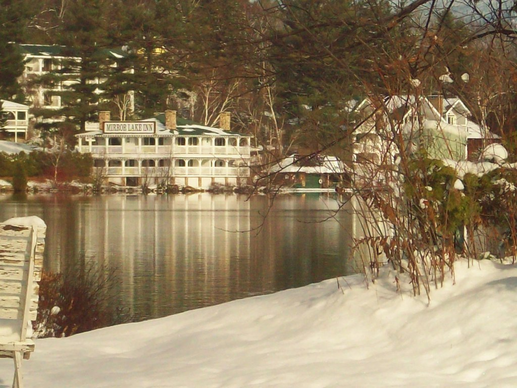 The beautiful lake Placid