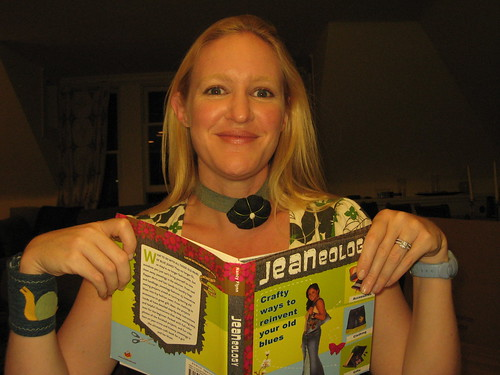 Nancy Flynn with her new book, Jeaneology