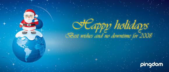 Happy Holidays from Pingdom