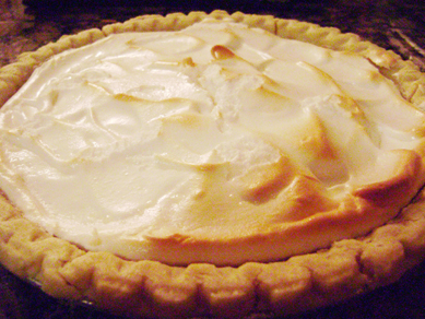 Ray and Krista's lemon meringue pie