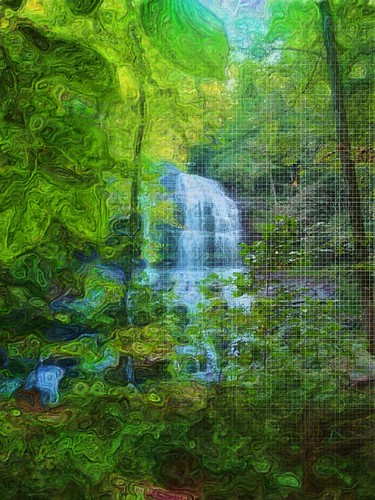 Forest Water Fall Poster For Energy Star Homes
