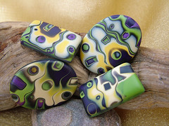 Monster Mash (julie_picarello) Tags: house yellow beads julie jewelry mg polymer gane mokume picarello