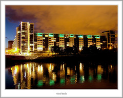 Lancefield Quay at night (flatfoot471) Tags: glasgow lancefieldquay