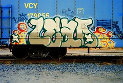 Lead - DNA (All Seeing) Tags: art graffiti trains tags end dna leader graffitiart freights paintedtrains railart monikers lead1 freightgraffiti boxcarart adikts hobotags addicted2metal newenglandgraffiti leadend leaddna leada2m rhodeislandgraffiti leadone