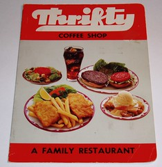 Thrifty Coffee Shop Menu