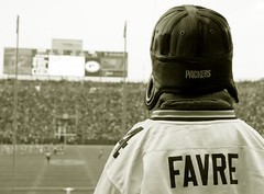 Favre Fan (Emery O) Tags: green field bay fan football goal packers brett greenbay posts lambeau favre greenbaypackers brettfavre endzone favrefan