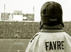 Favre Fan (Emery O) Tags: green field bay fan football goal packers brett greenbay posts lambeau favre greenbaypackers brettfavre endzone favrefan