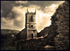The Old Monastry (wolfmanmoike) Tags: old sky tower wall wicklow photoart monastry 10faves aplusphoto platinumheartaward photoartbloggroup