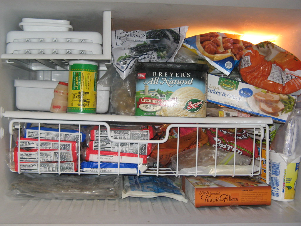 This is what's inside our freezer . . .