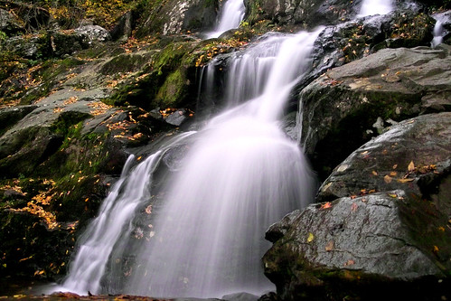 Water Fall Below Big Meadow on Skyline Drive in the Virginia Mountains.