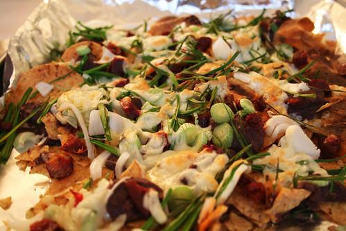 Healthier Chorizo Nachos