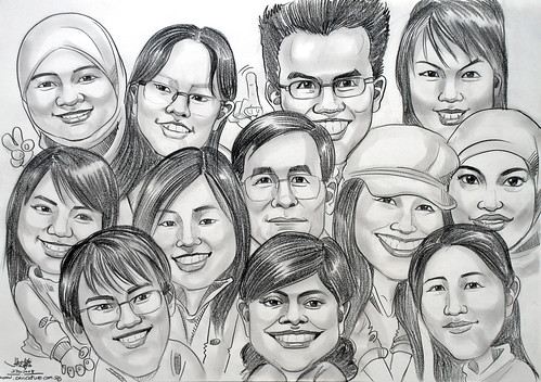 Caricatures pencil CPF Board
