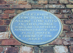 Photo of Gertrude Lowthian Bell blue plaque