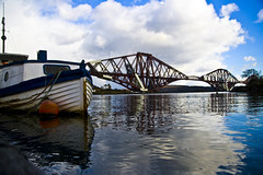 Forth Rail Bridge (Z0L1TA) Tags: sky reflection water clouds river geotagged scotland boat forth bouy allrightsreserved forthrailbridge sigma1770mm canon400d zolita1908 diamondclassphotographer zolitamcguicken wwwzolitacouk photographybyzolitamcguicken  photographybyzolitamykytyn zolitamykytyn zolitaphotography httpzolitaphotographywixcomzolita olita
