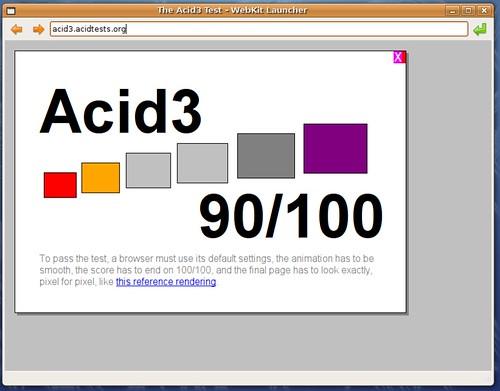 90% avec Webkit pour Linux