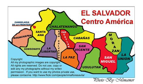 MAPA EL SALVADOR Y CANDELARIA DE LA FRONTERA