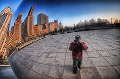 Mr. Bean is back and dirtier than ever!  (Self portrait off a dirty bean) (iceman9294) Tags: chicago illinois searchthebest bean millenniumpark cloudgate lightroom chriscoleman d300 photomatix anawesomeshot superbmasterpiece iceman9294 goldstaraward 3exphdrhandheld
