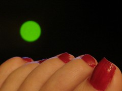 Green Light, Red Toes (merobson) Tags: light green toes polish day112 toenail cotcmostinteresting project365
