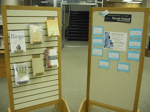 Sexual Assault Awareness Month display