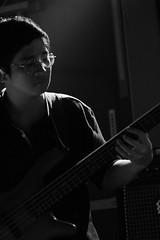 Bass man (Davidrummer) Tags: music canon eos 350d cafe riverside band taiwan rocker taipei   deserts ef70200mmf4l livehouse   iso80 digitalshot iso8001600