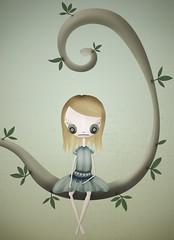 Fille ( wt Yaph ) Tags: arbol nia fille monita sentada pelitos pekitas