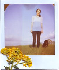Head Against the Sky (amanda pulley) Tags: sky baby amanda flower me polaroid spring hey frankie expired itsnotyellow 600film takenbykate ilovespring savepolaroid