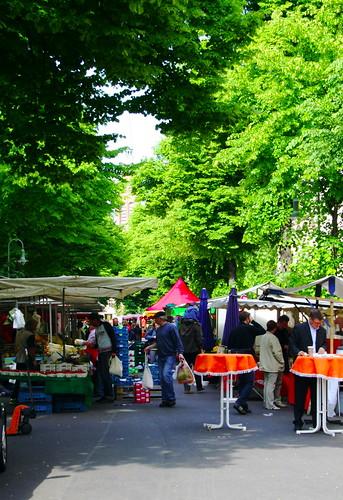 Kollwitzplatz farmers market/Berlin