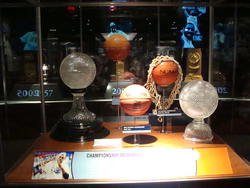 UNC National Championship Trophy Case