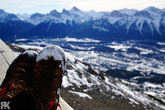 Sitting On Top of the World (ryan.kole32) Tags: canmore canmorealberta alberta canada canadianrockies rockies rockymountains travel outdoors hiking landscape nature beauty beautyinnature mountladymacdonald shoes boots perspective depthoffield dof sony sonya77 teamsony