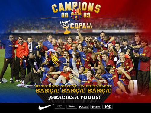 Barça Campeón de la Copa del Rey 2009