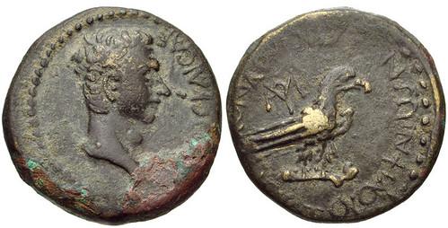 PHRYGIA, Amorium. Gaius (Caligula). AD 37-41. Æ 20mm (5.34 g, 6h).