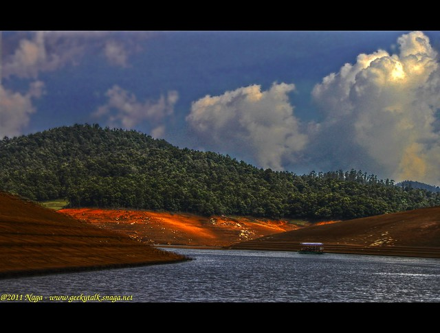 Play of light and shadows at Pykara lake, Ooty (HDR)