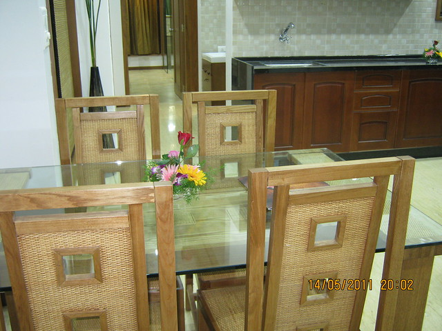 "Dining in a 3 BHK ""Show"" Flat in Om Developers' Tropica, Blessed Township at Ravet PCMC, Pune 412 101"