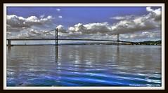Forth Road Bridge (Barrie Caveman) Tags: bridge river scotland scottish suspensionbridge picnik rivercrossing lothian firthofforth riverforth southqueensferry forthroadbridge fujifinepixs200exr elements9
