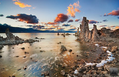 A Break In The Storm - Mono Lake, California (david.richter) Tags: california ca sunset usa lake storm water clouds canon reflections eos rebel waves dusk unitedstatesofamerica shore foam lee monolake polarizer tufa graduated xs