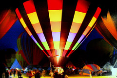 Gather ye round the Balloon Glow (JoelDeluxe) Tags: newmexico night glow fireworks shots hotair balloon hotairballoon nm joeldeluxe ballooning aibf 2007 outstanding albuquerqueinternationalballoonfiesta albuquerquenewmexico glowdeo anawesomeshot albuquerqueinternationalballoonfiesta2007
