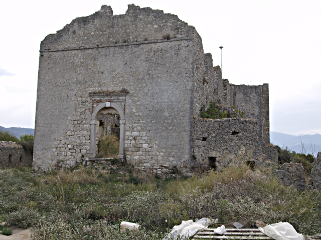 house inside the citadel, Vonitsa castle, Greece