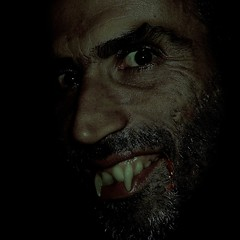 Tonite i'll taste your neck...Have a nice Halloween (Osvaldo_Zoom) Tags: portrait halloween scary blood joke teeth goth vampyr vampir horrornight