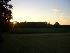 sunset (Ron Reason) Tags: county rural corn country indiana roads laporte westville