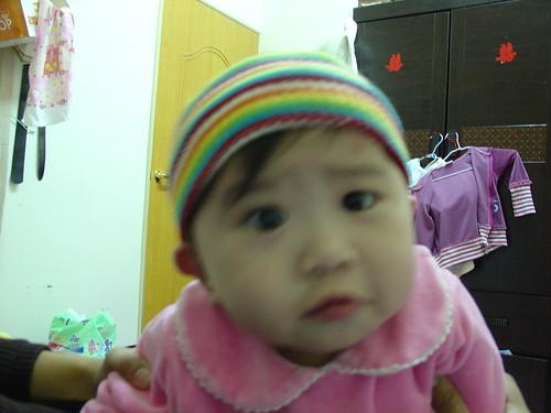 20070126 蝦餅戴帽子