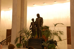 Statue in Founders Hall - Milton S. Hershey School