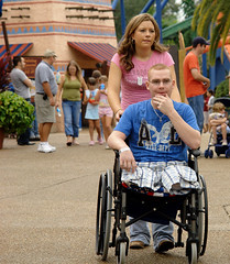 dependence (jamie3529gq) Tags: vacation sony wheelchair wounded buschgardens 2007 amputee dependence dscr1