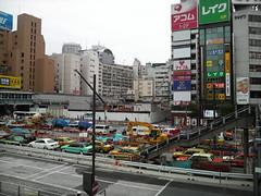 P905iで渋谷駅前歩道橋から東急文化会館跡地