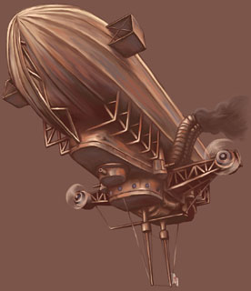 steam punkairship