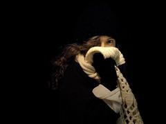 Condemned (Sator Arepo) Tags: winter light portrait white black eye wool scarf dark hair reflex darkness olympus cap glove lowkey zuiko e500 uro 1454mm zd1454mm abigfave retofz080219