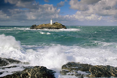 409958 (KaKa_Phi) Tags: uk greatbritain england lighthouse seascape storm water weather landscape coast europe cornwall waves power unitedkingdom shoreline scenic perspectives wave gale pointofview coastal shore coastline strength concept breaking breakingwave godrevy stormysea godrevypoint buildingstructure watercomponents advertisingconcepts atmosphericevents godrevyligthhouse oceanicstorm
