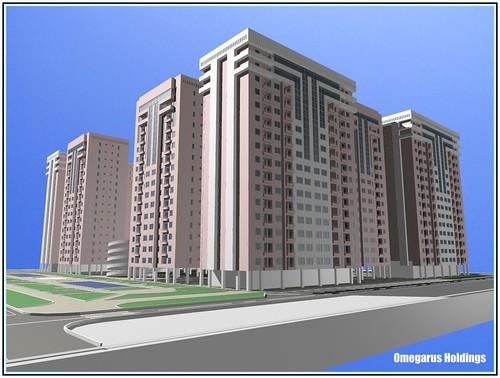 Residential Complex, Astana, 2008.