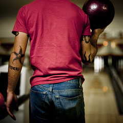 (Brooke Pennington) Tags: justin bokeh michigan tobe tattoos bowling grandrapids bluejeans grpickoftheday brookepennington videri