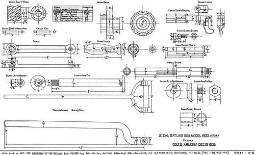 30 Cal Gatling gun Blueprints Gatling Gun Diagram on