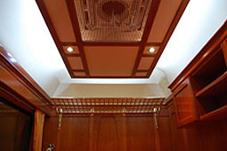 European heritage train for charters - premium sleeper, ceiling detail